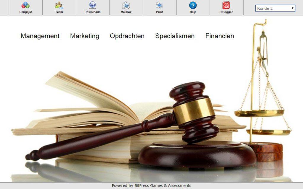 Recht in Bedrijf Rechten management games hoger onderwijs